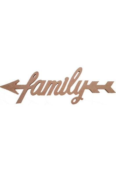 Okutan Hobi Oklu Family Yazı KOD:D16