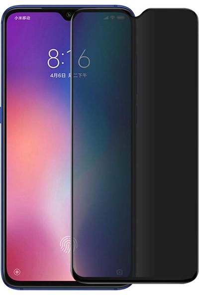 Case 4U Xiaomi Redmi Note 7 Privacy Hayalet Cam Ekran Koruyucu Siyah
