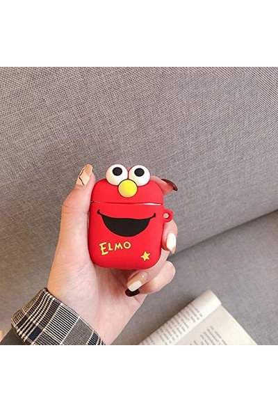 Case 4U Apple Airpods Silikon Kılıf Elmo