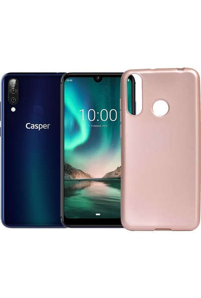 Case 4U Casper Via F3 Kılıf Mat Silikon Arka Kapak Premier Rose Gold