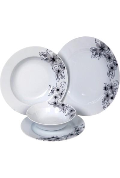 Güral Porselen 6 Kişilik 24 Parça Samii Dekorlu Yemek Takımı