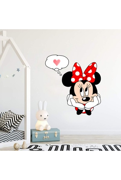 Areksan Reklam Aşık Minnie Mouse Çocuk Odası Duvar Sticker