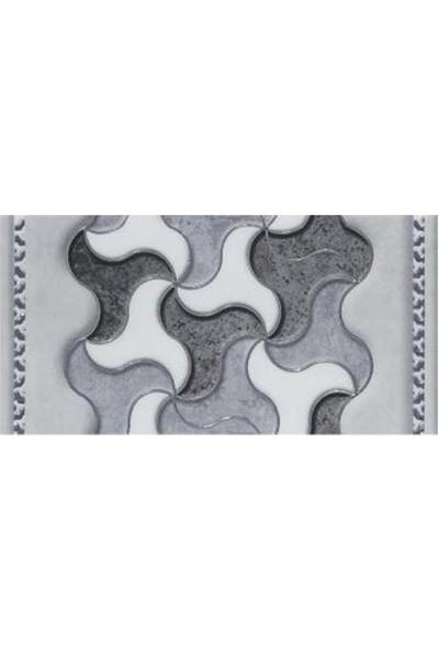 Mcm Mutfak Tezgah Arası Seramik Granit Dekor Rebel Gümüş