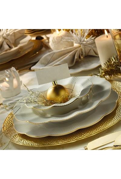 Kütahya Porselen Milena Yaldızlı 12 Kişilik 48 Prç Yemek Takımı