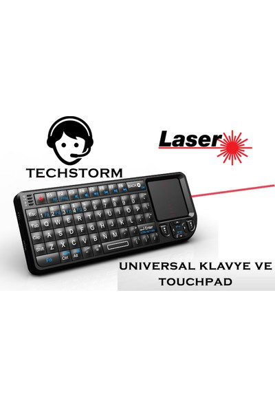 Techstorm Laser Universal Mini Klavye - Touchpad