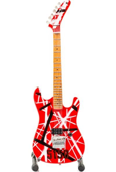 Shoptimal Van Halen Modeli Dekoratif Minyatür Gitar