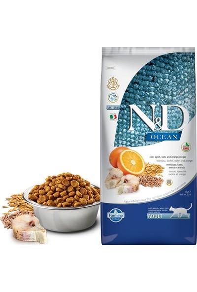 N & D Ocean Morina Balıklı ve Portakallı Düşük Tahıllı Yetişkin Kedi Maması 5 kg