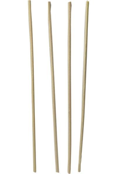 Bambu Oda Parfümü Çubuğu 24 Adet + Çiçek 15 cm