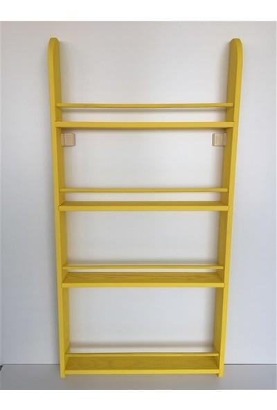 Şahin Mobilya Çocuk Odası Ahşap Montessori 4 Raflı Kitaplık 120X60 cm Sarı