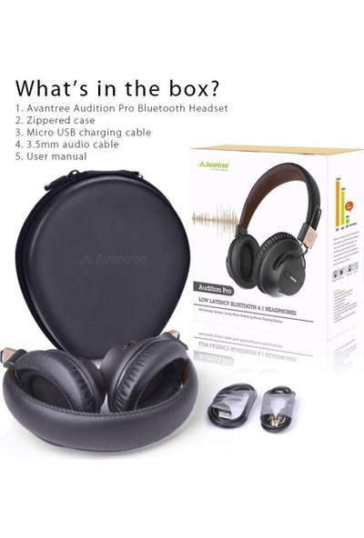 Avantree 40 HR Wireless Bluetooth 4.1 Over-the-Ear Foldable Headphones Headset with Mic
