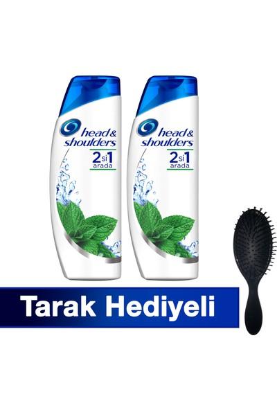 Head&Shoulders 2'si 1 Arada Şampuan Mentol Ferahlığı 700 ml+700 ml (TarakHediyeli)