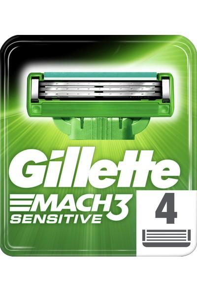 Gillette Mach3 Sensitive 4'lü Yedek Tıraş Bıçağı