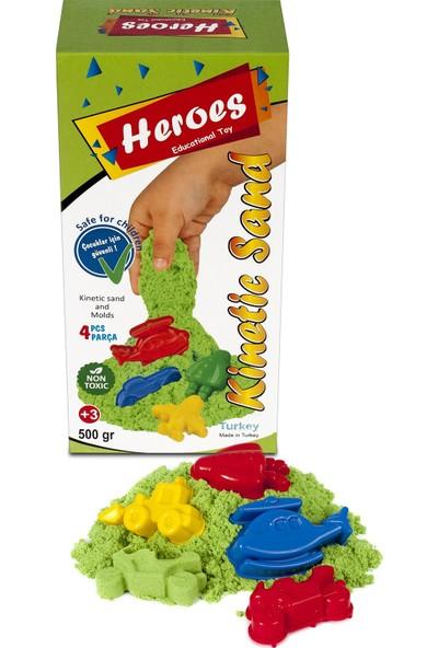 Heroes Yeşil Kinetik Kum+Kalıp 500 gr