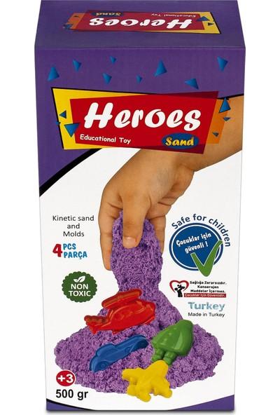 Heroes Mor Kinetik Kum+Kalıp 500 gr