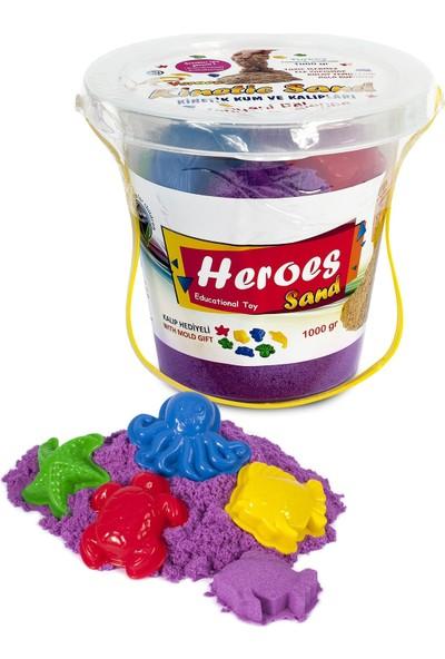 Heroes Kovalı Mor Kinetik Kum+Kalıp 1000 gr
