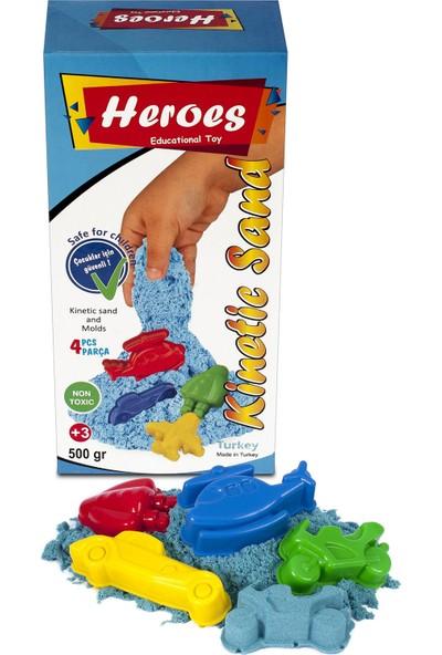 Heroes Mavi Kinetik Kum+Kalıp 500 gr