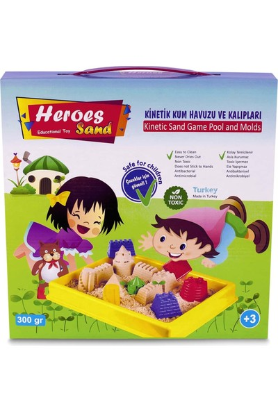 Heroes Küçük Havuzlu Kinetik Kum ve Araç Kalıpları 300 gr