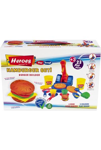 Heroes Lezzetli Hamburgerler Oyun Hamuru Seti