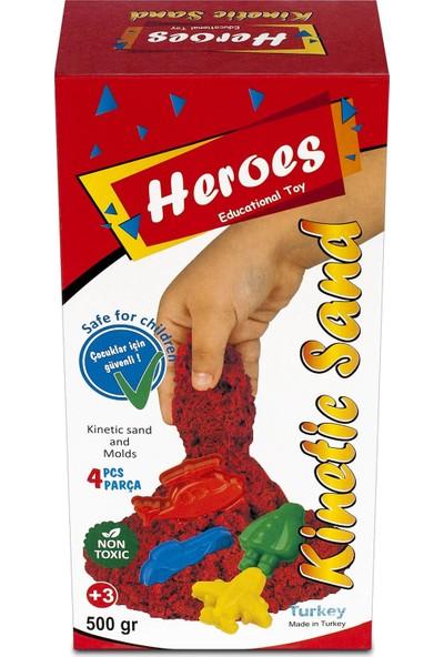 Heroes Kırmızı Kinetik Kum+Kalıp 500 gr