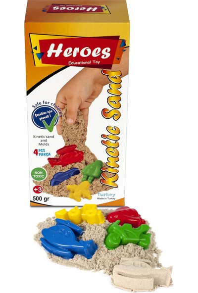 Heroes Sarı Kinetik Kum+Kalıp 500 gr
