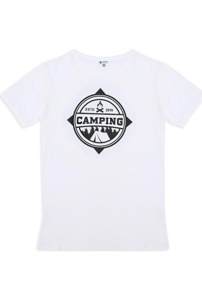 Ever Camping Tişört est.2019 Beyaz