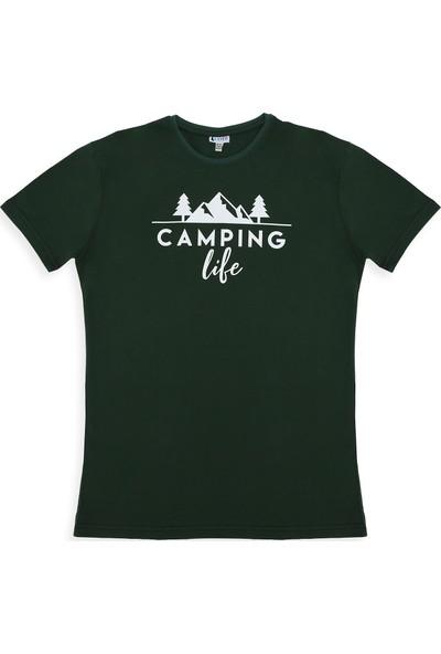 Ever Camping Tişört camping life Yeşil