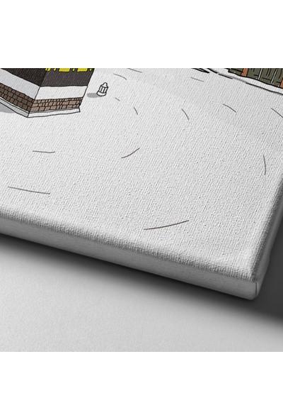 Desenlio Kabe İllüstrasyon Kanvas Tablo