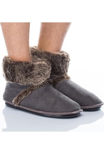Twigy Jim L0304 Erkek Panduf Ev Ayakkabısı Peluş Terlik