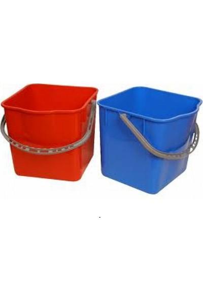 Derin Temizlik Arabası Yedek Kovası 25 lt Kırmızı - Mavi 2'li Set