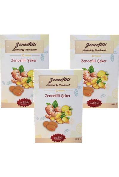 İsmet Meriç Zencefilli Limonlu ve Havlıcanlı Şekerleme - 80 gr x 3 adet