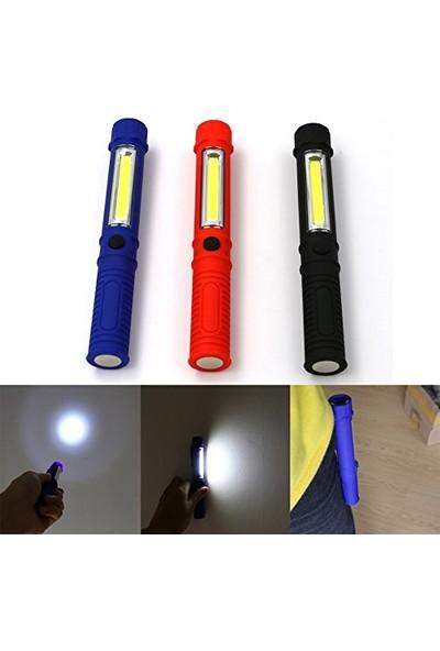 Pst Mıknatıslı Masa Çalışma Oto Tamir Kamp Lambası Cob LED El Feneri