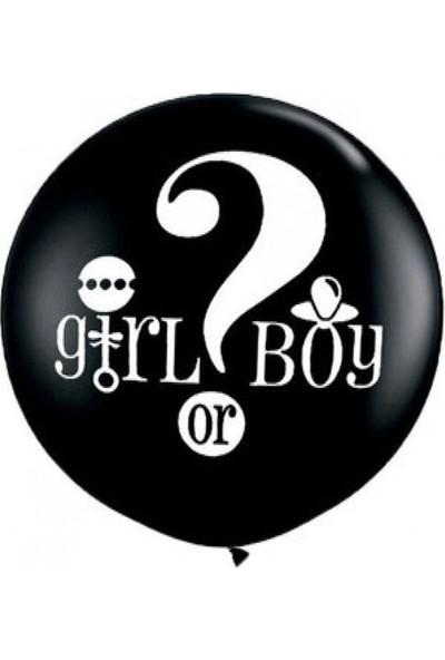 Yck Cinsiyet Balonu Siyah