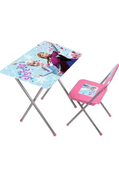 Gokidy Frozen Çalışma Masası ve Sandalyesi