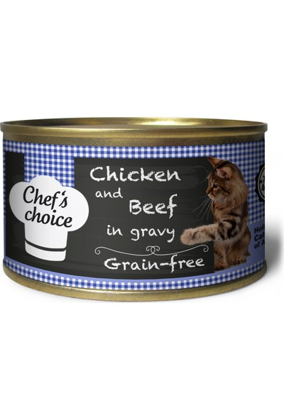 Chef 's Choice Tahılsız Tavuklu & Sığır Etli Soslu Yaş Kedi Maması 80 g 6 Al 5 Öde
