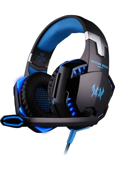 Kotion Each G2000 Mikrofonlu Işıklı Oyuncu Kulaklık Mavi