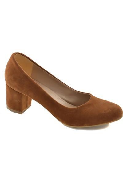 Lamberti Taba Süet Topuklu Kadın Ayakkabı LMB-07