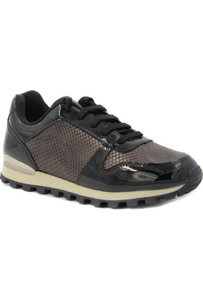Vanotte Siyah Ayna Kadın Spor Ayakkabı Z.519VNT