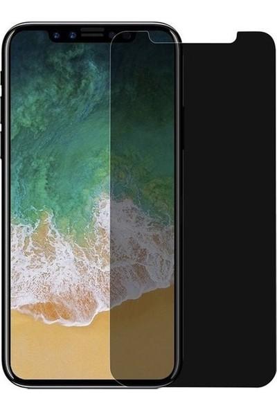 CoverZone Huawei P smart 2019 Gizli Görünmez Lively Temperli Ekran Koruyucu Siyah