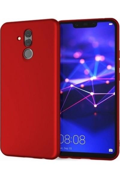 CoverZone LG Q60 Kılıf Premier Silikon Kırmızı + Temperli Ekran Koruma + Dokunmatik Kalem