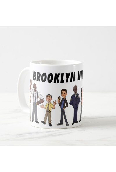 Kuppa Shop Brooklyn 99, Brooklyn Nine Nine Kupa Bardak, Illüstrasyon, Çizim
