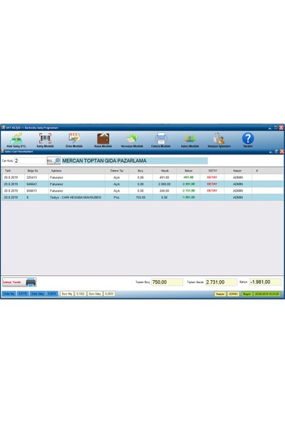 Uht Bilişim Barkodlu Satış Programı Barkodlu Satış Sistemi (Proterazi Paket)