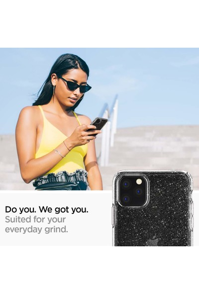 Spigen Apple iPhone 11 Pro Max Kılıf Liquid Crystal Glitter Crystal Quartz - 075CS27131