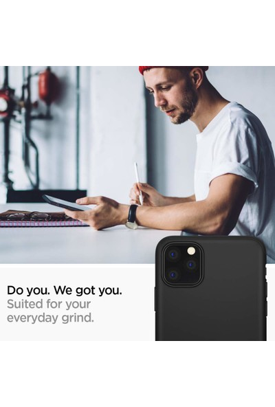 Spigen Apple iPhone 11 Pro Max Kılıf Thin Fit Classic Black - 075CS27432