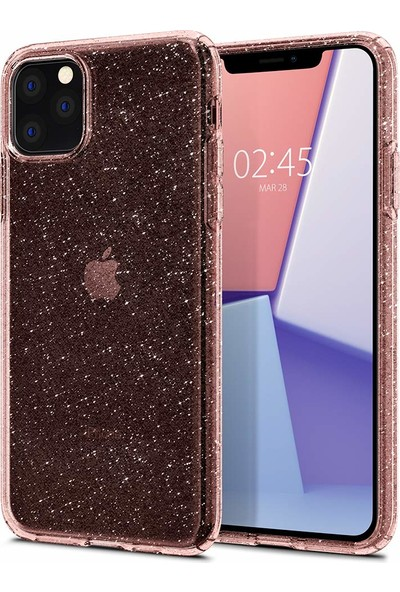Spigen Apple iPhone 11 Pro Kılıf Liquid Crystal Glitter Rose Quartz - 077CS27230