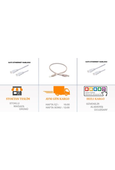 Appa Cat5 Ethernet Kablosu 0.60 cm