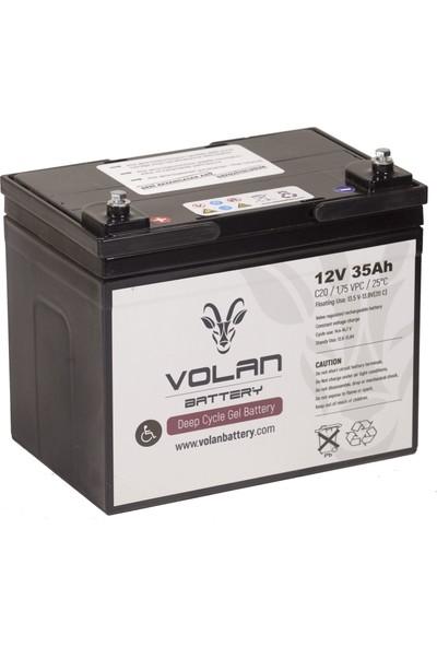 Volan Battery 12 Volt 35 Ah (Amper) Engelli Aracı Aküsü (Ücretsiz Kargo)