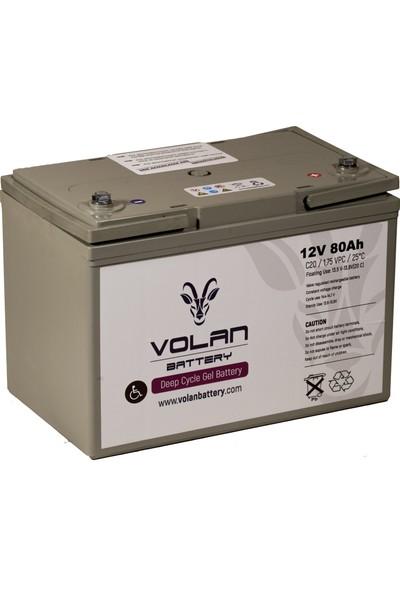 Volan Battery 12 Volt 80 Ah (Amper) Engelli Aracı Aküsü (Ücretsiz Kargo)