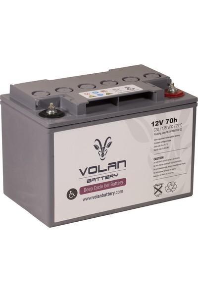 Volan Battery 12 Volt 70 Ah (Amper) Engelli Aracı Aküsü (Ücretsiz Kargo)