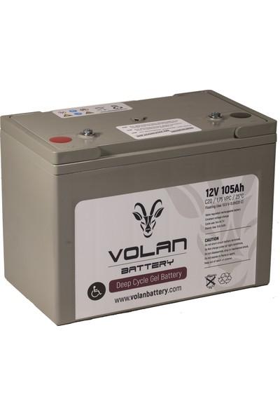 Volan Battery 12 Volt 105 Ah (Amper) Engelli Aracı Aküsü (Ücretsiz Kargo)