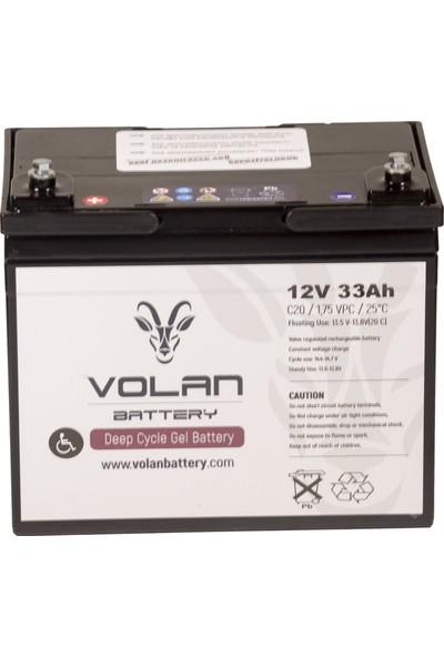 Volan Battery 12 Volt 33 Ah (Amper) Engelli Aracı Aküsü (Ücretsiz Kargo)